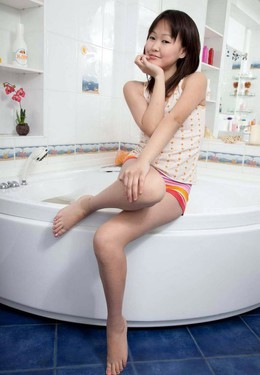 Cute Asian teenager starts..