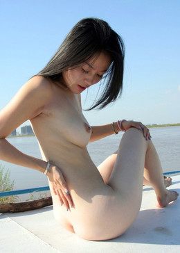 Nude Chinese angel on the yach
