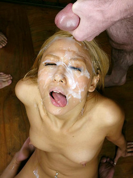 Naked Chinese girl sucks and licks..